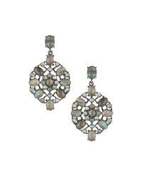 Bavna - Metallic Geometric Labradorite Drop Earrings - Lyst