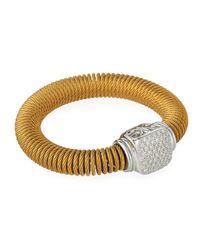 Alor - Yellow Coiled Diamond-station Bracelet - Lyst