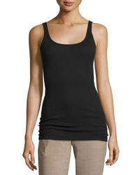 Vince | Black Favorite Ribbed Tank | Lyst