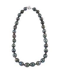 Belpearl | 14k Graduated Tahitian Black Pearl Necklace | Lyst