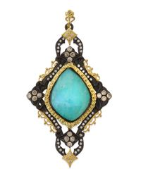 Armenta - Blue Turquoise Cravelli Scroll Enhancer - Lyst