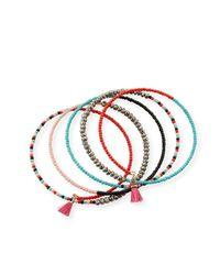 Panacea - Red Tasseled Seed Bead Coil Bracelet - Lyst