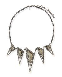 Alexis Bittar | Metallic Crystal Spike Bib Necklace | Lyst