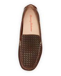 Tommy Bahama | Brown Augustine Woven Leather Loafer for Men | Lyst
