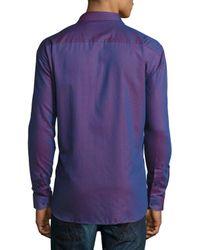 Maceoo - Pink Vogue Contrast-trim Sport Shirt for Men - Lyst