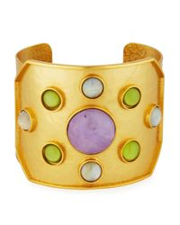 Stephanie Kantis - Yellow Rejoice Multi-gemstone Cuff Bracelet - Lyst