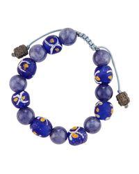 Armenta - Blue African & Iolite Beaded Bracelet - Lyst