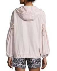 Moncler | Pink Jarosse Hooded Lightweight Jacket | Lyst