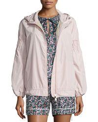 Moncler - Pink Jarosse Hooded Lightweight Jacket - Lyst