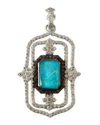 Armenta - Blue New World Large Doublet Scroll Enhancer Pendant With Diamonds - Lyst