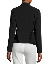 Laundry by Shelli Segal | Black Buckle-strap Crepe Jacket | Lyst