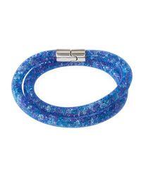 Swarovski - Blue Stardust Convertible Crystal Mesh Bracelet/choker - Lyst