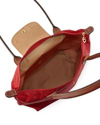 Longchamp - Red Le Pliage Small Shoulder Tote Bag - Lyst