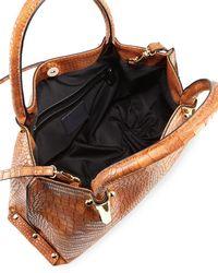 Neiman Marcus - Black Willow Exotic-embossed Satchel Bag - Lyst