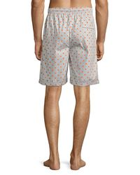 Psycho Bunny - Gray Men's Woven Lounge Shorts With Logo for Men - Lyst