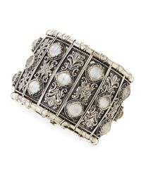 Konstantino - White Aura Silver & Mother-of-pearl Cuff Bracelet - Lyst