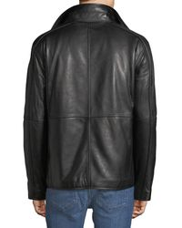 Marc New York - Black Hartz Smooth Leather Jacket for Men - Lyst