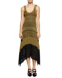 Proenza Schouler | Black Sleeveless Scoop-neck Colorblock Dress | Lyst