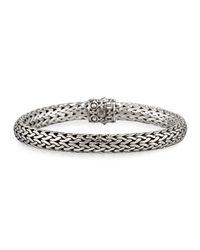 John Hardy - Metallic Dot Silver & 18k Gold Oval Bracelet - Lyst