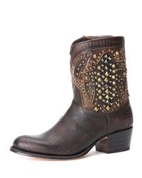 Frye - Brown Deborah Deco Short Boot - Lyst