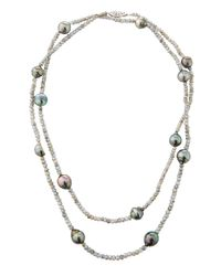Belpearl - Metallic 14k Labradorite & Tahitian Pearl Necklace - Lyst