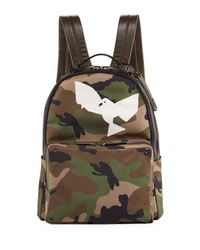 Valentino - Green Men's Camo Backpack With Bird for Men - Lyst