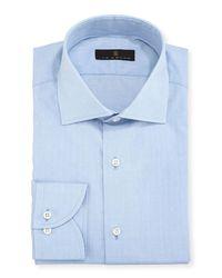Ike Behar - Blue Gold Label Dobby Cotton Dress Shirt for Men - Lyst