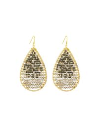 Nakamol - Beaded Teardrop Earrings In Gray Mix - Lyst