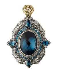 Konstantino - Thalassa Oval Enhancer/pendant With London Blue Topaz - Lyst