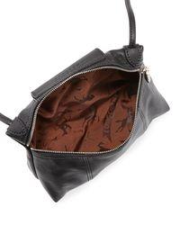 Longchamp - Black Le Pliage Cuir Small Crossbody Bag - Lyst