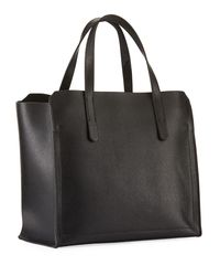Furla - Black Sally Small Coated Saffiano Leather Tote Bag - Lyst