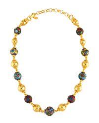 Jose & Maria Barrera - Metallic Cloisonné & Hammered Beaded Necklace - Lyst