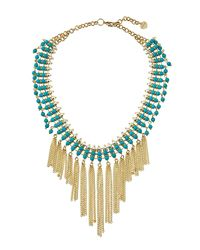 Nakamol | Blue Beaded Statement Fringed Choker Necklace | Lyst