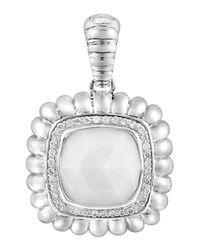 John Hardy - White Bedeg Square Agate Enhancer W/ Diamonds - Lyst