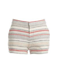Joie - Multicolor Merci Embroidered Linen Shorts - Lyst