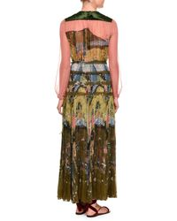 Valentino - Multicolor Garden Of Delight Printed Long-sleeve Gown - Lyst