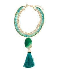 Panacea - Green Statement Pendant Collar Necklace - Lyst