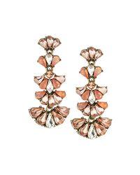 Lydell NYC | Metallic Teardrop Crystal Multi-drop Earrings | Lyst