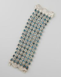 Konstantino - Thalassa Faceted London Blue Topaz Six Row Bracelet - Lyst
