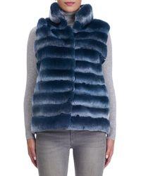 Gorski - Black Stand-collar Rabbit Fur Jacket - Lyst