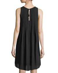 Nanette Nanette Lepore - Black Pintuck-neck Swingy A-line Dress - Lyst