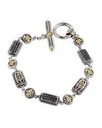 Konstantino   Metallic Asteri Pave Black Diamond Link Bracelet   Lyst