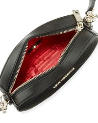 Love Moschino - Black Logo-embossed Clutch Bag With Strap - Lyst