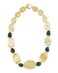 Marco Bicego - Metallic Lunaria 18k Gold & Tourmaline Collar Necklace - Lyst