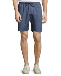 Original Penguin - Blue Drawcord Slim-fit Shorts for Men - Lyst