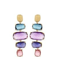 Marco Bicego - Multicolor Murano 18k Four-drop Multi-gemstone Earrings - Lyst
