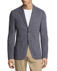 Michael Kors - Blue Birdseye Knit Two-button Blazer for Men - Lyst