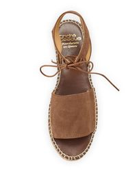 Andre Assous - Brown Selena Suede Espadrille Sandal - Lyst