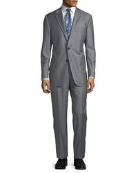 Hickey Freeman - Men's Striped Two-piece Suit Medium Gray for Men - Lyst
