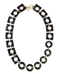 Ashley Pittman - Brown Mbele Geometric Dark Horn Link Necklace - Lyst